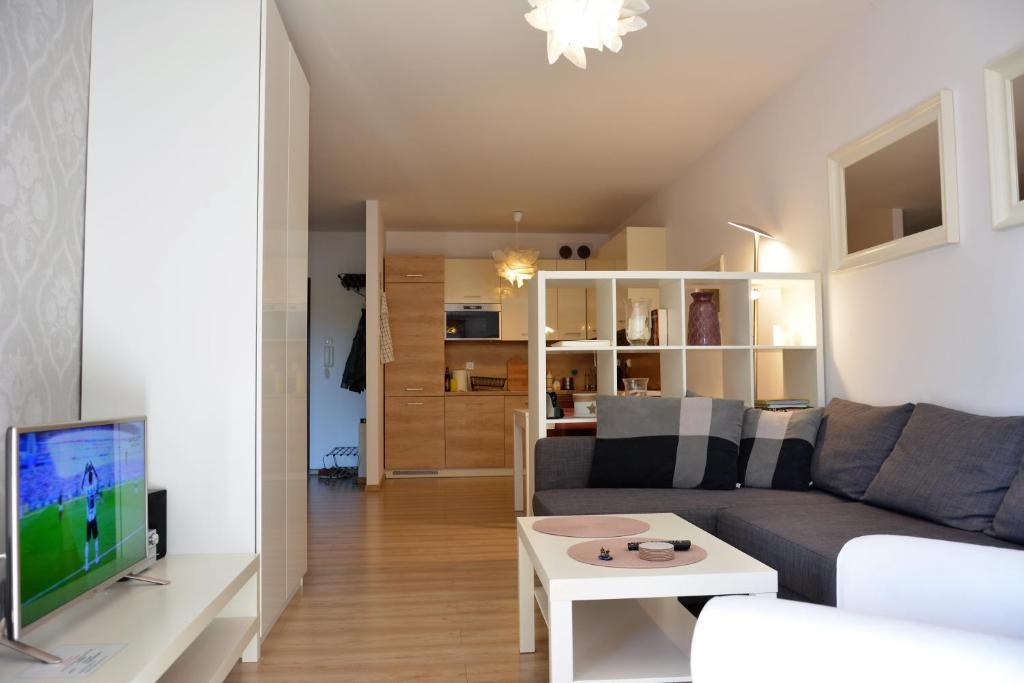 Część wypoczynkowa w obiekcie Apartament Solna 106