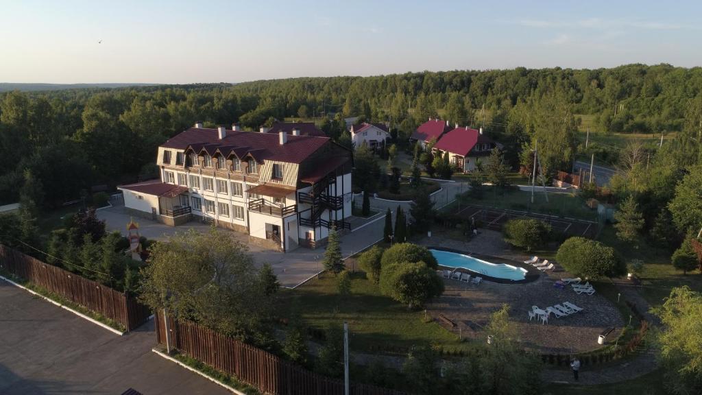 Гостиничный Комплекс Приокский Дворик с высоты птичьего полета