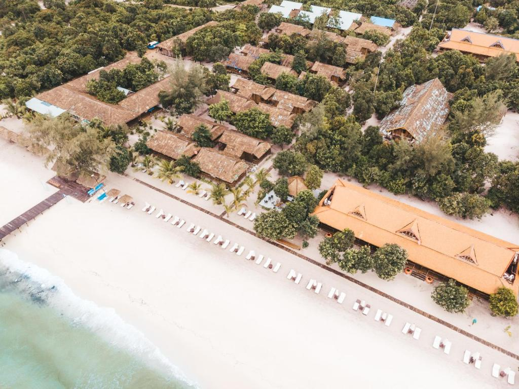 A bird's-eye view of Sok San Beach Resort