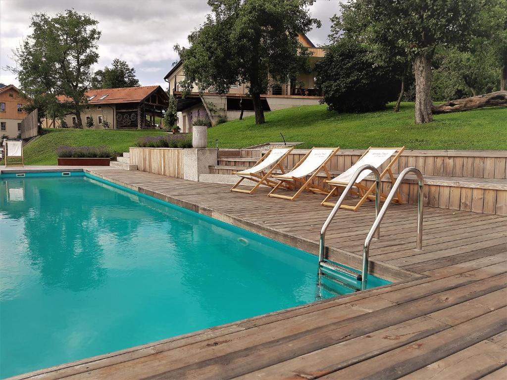 The swimming pool at or near Lavender Hill, Eko Resort & Wellness