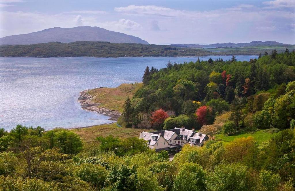 A bird's-eye view of Loch Melfort Hotel