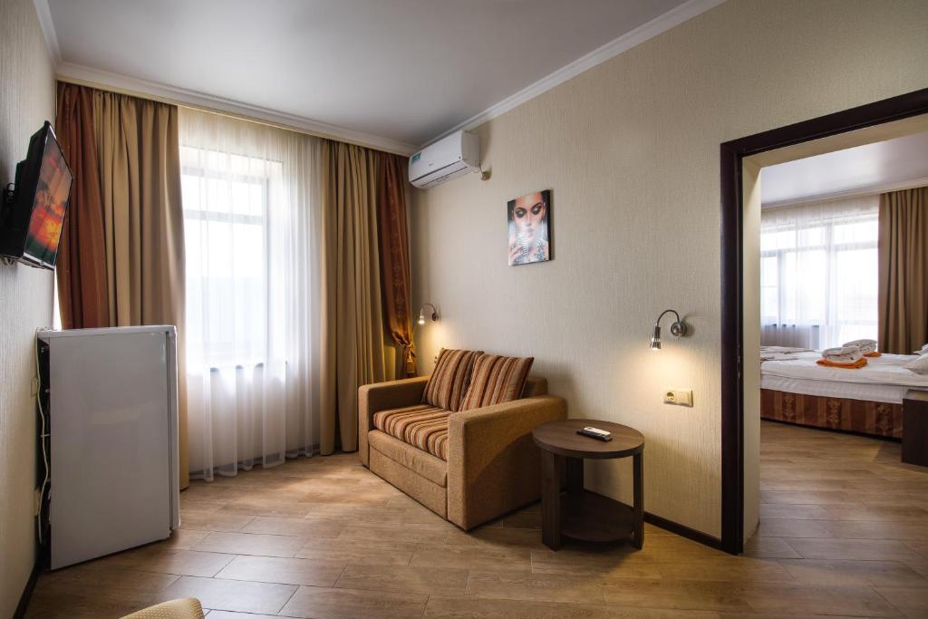 Гостиная зона в Гостиница Распутин