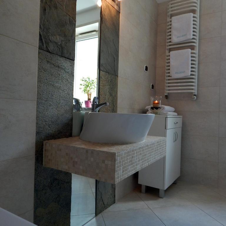 Łazienka w obiekcie Apartament Zalesie