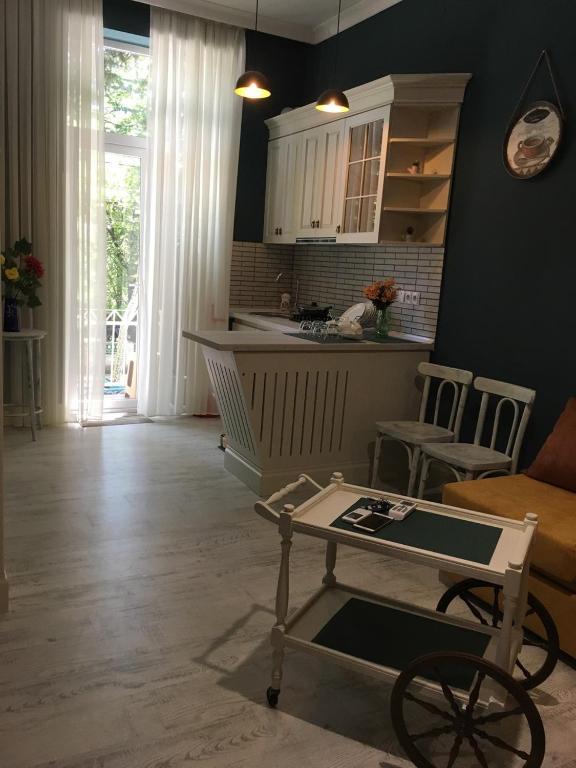 Кухня или мини-кухня в Apartment Kutaisi BeBe