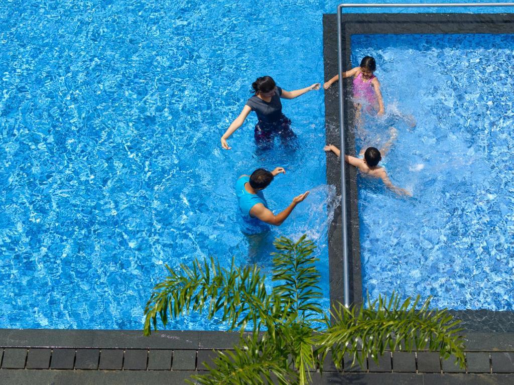 The swimming pool at or near Wonderla Resort