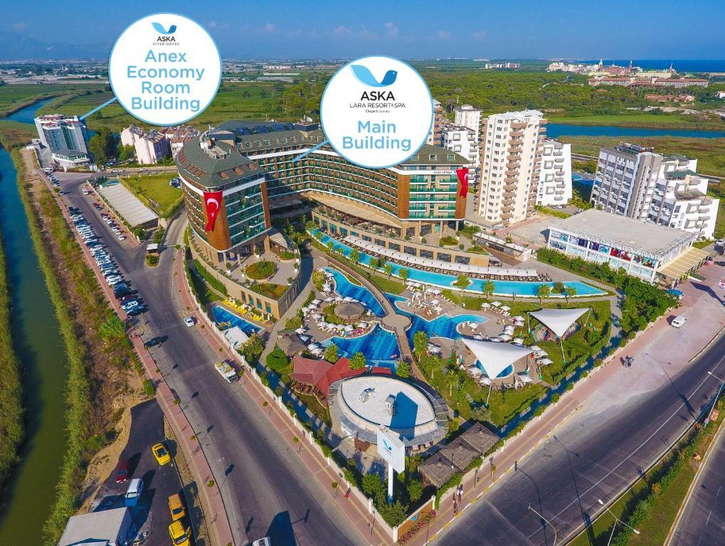 A bird's-eye view of Aska Lara Resort & Spa Hotel