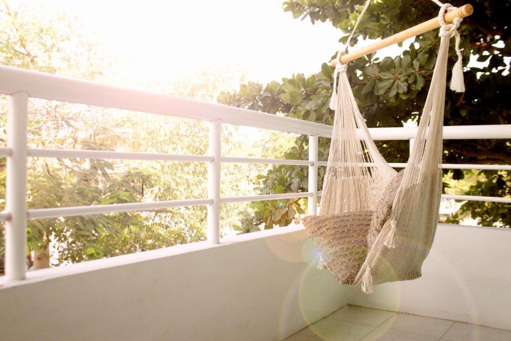 A balcony or terrace at La Palmita