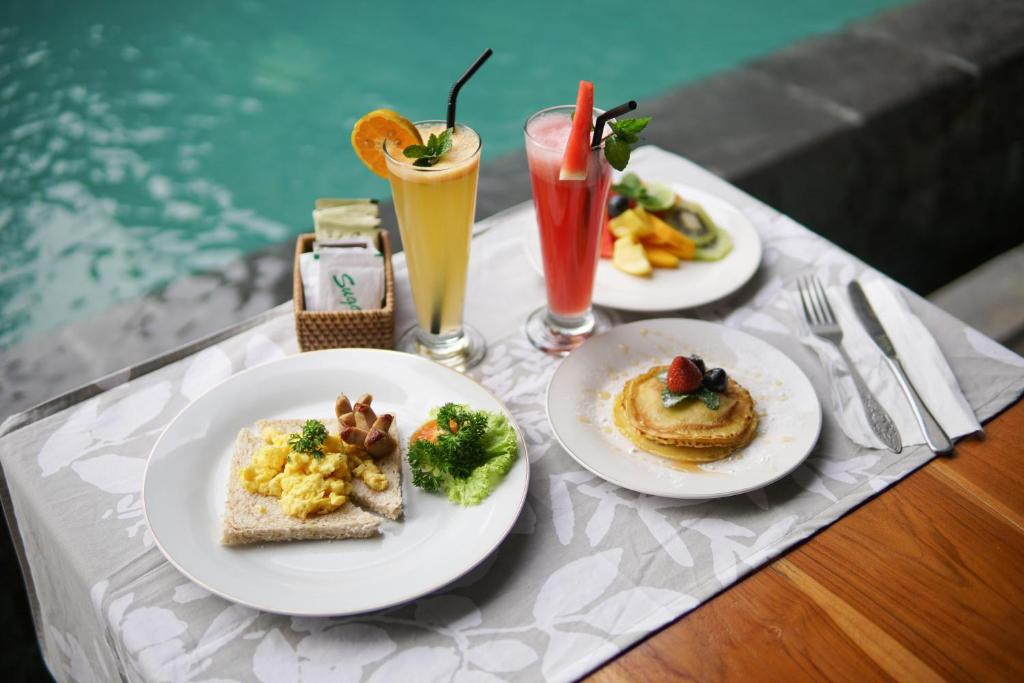 Lunch and/or dinner options available to guests at Narda House Ubud