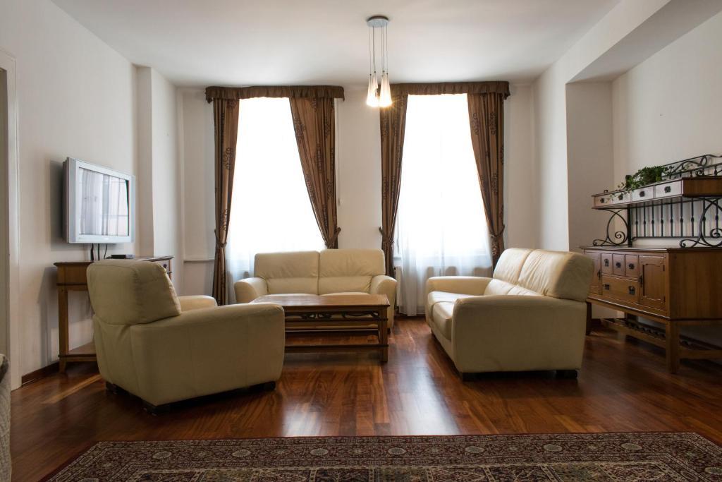 Χώρος καθιστικού στο Janalex Wenceslas Square Apartments II