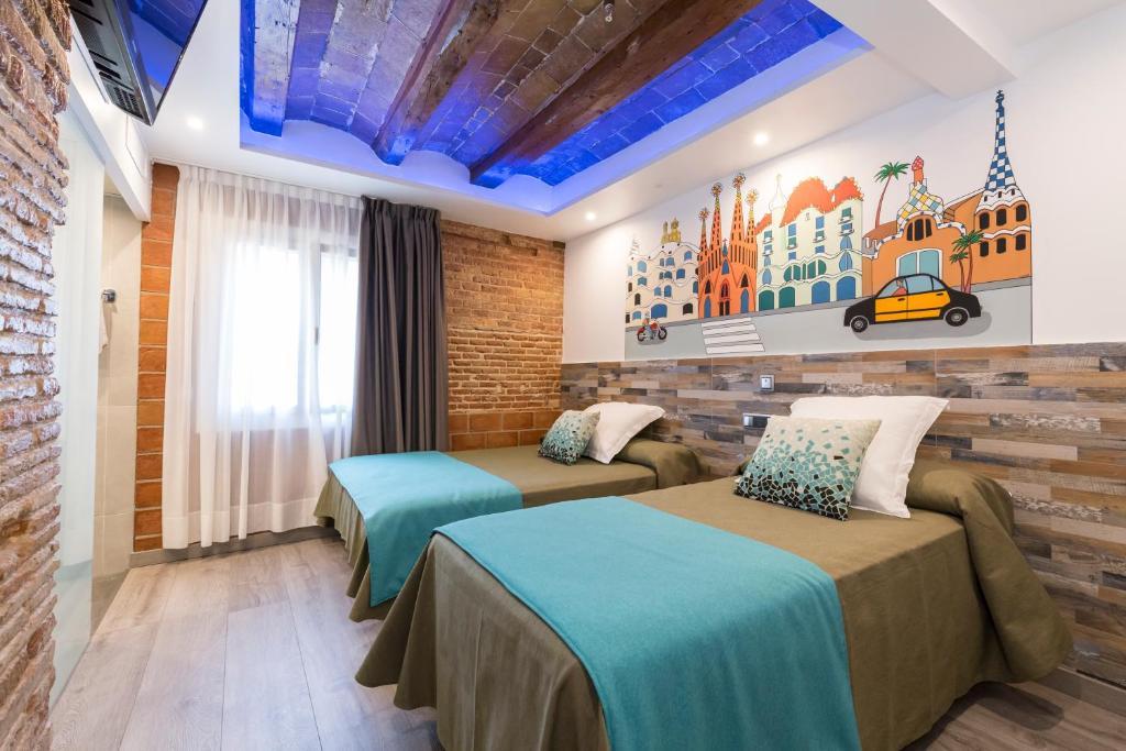 Lova arba lovos apgyvendinimo įstaigoje Pensión Miami