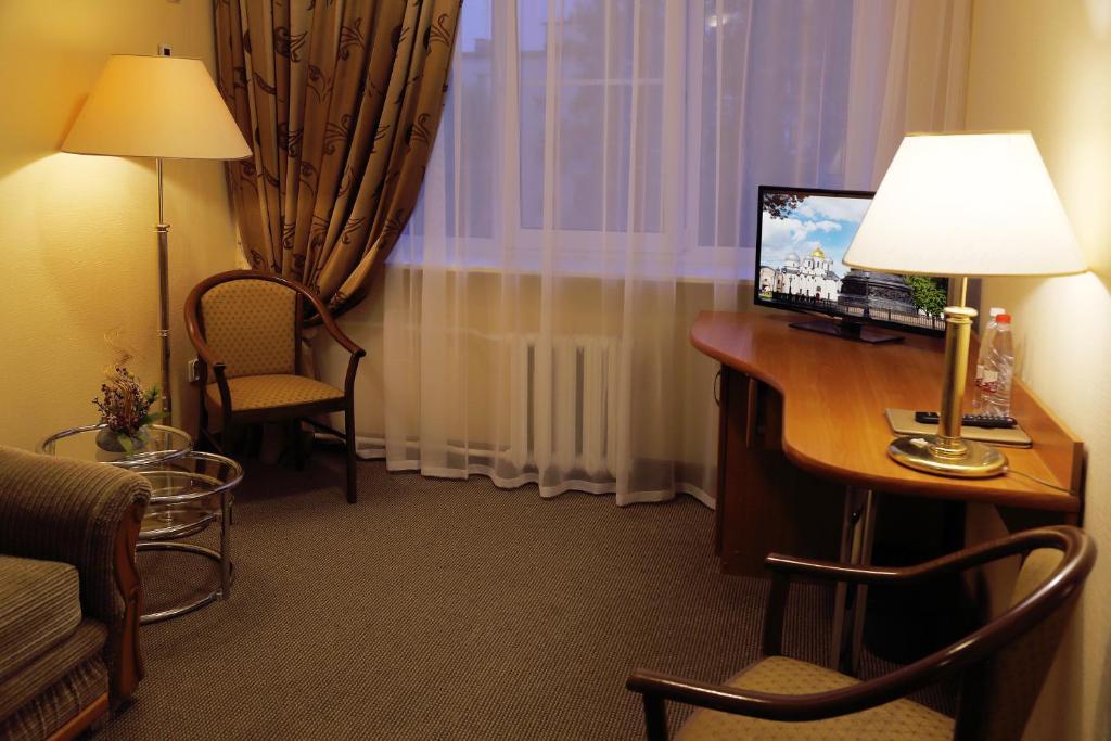 Гостиная зона в Гостиница Садко