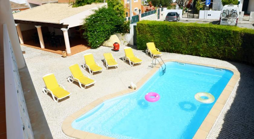 A view of the pool at Lagos Inn Guesthouse or nearby