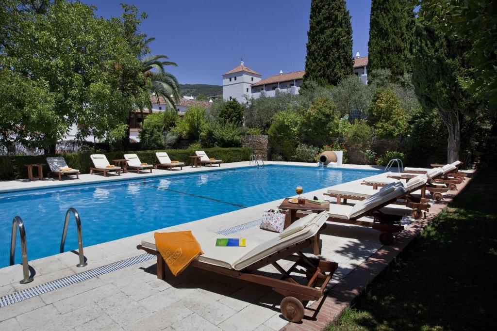 The swimming pool at or near Parador de Guadalupe