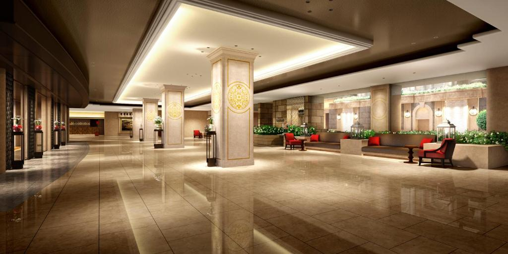 The lobby or reception area at Nagoya Tokyu Hotel
