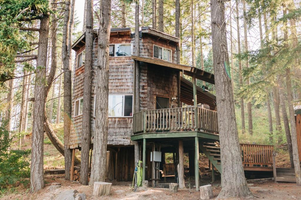 Country House Tree House Tranquil A Tree White Salmon Wa