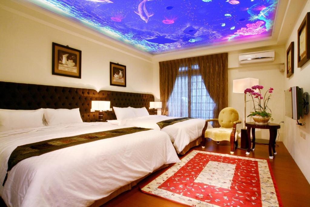 香林茶園房間的床