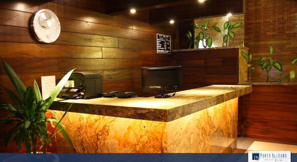 The lobby or reception area at Hotel Porto Allegro Puerto Vallarta