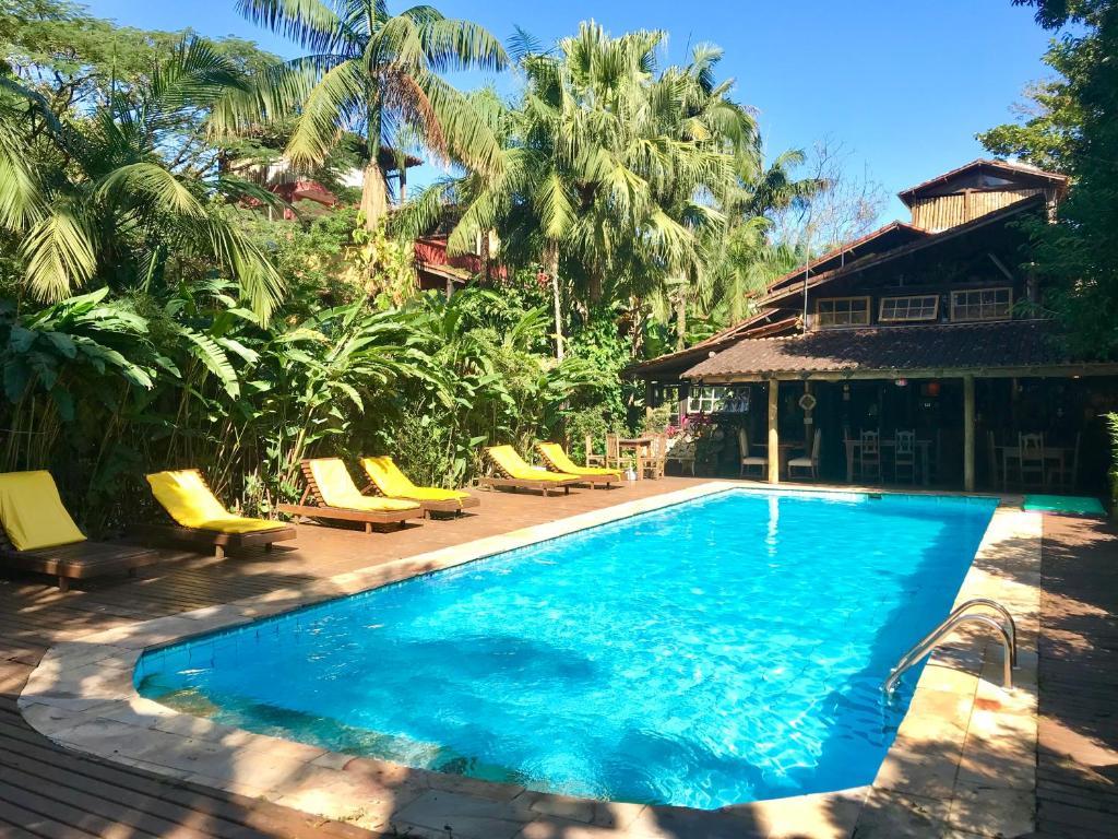 The swimming pool at or near Hotel Pousada Katmandu