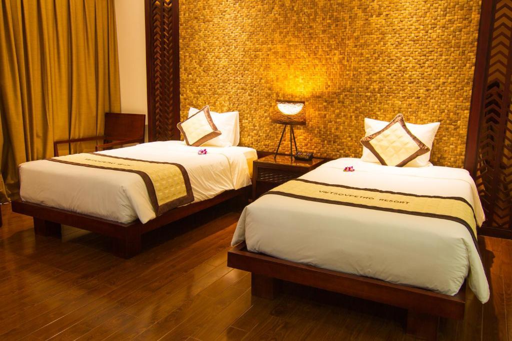 Phòng Deluxe 2 Giường Đơn Nhìn Ra Vườn