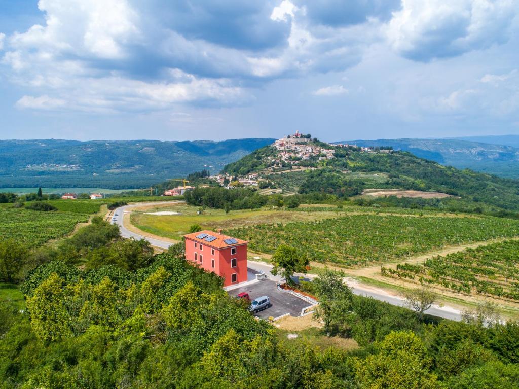 Casa Rossa Motovun a vista de pájaro