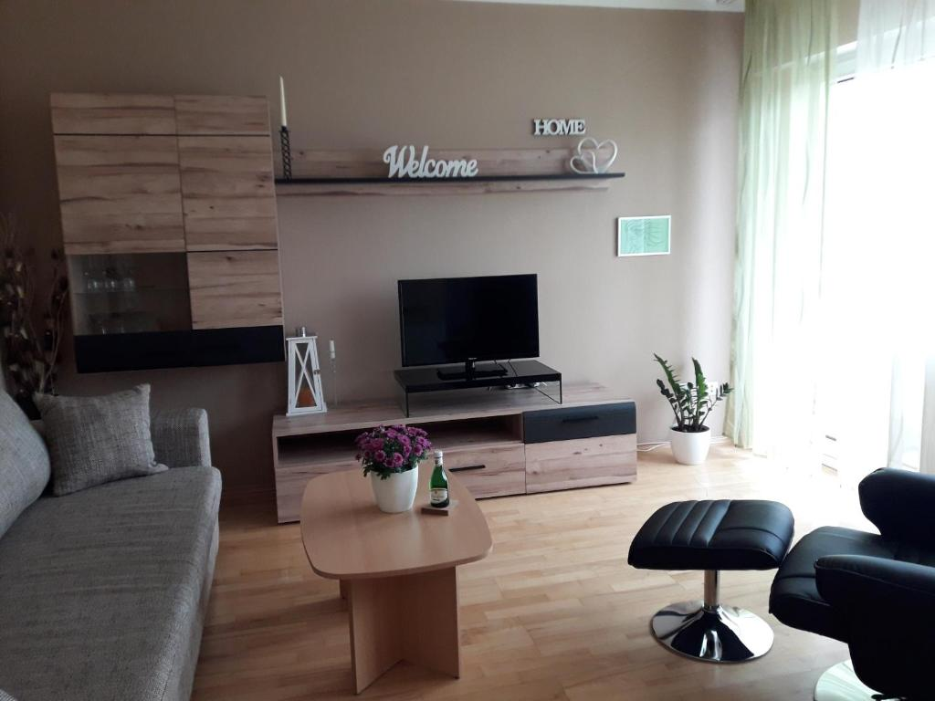 A television and/or entertainment center at Apartment Viktoria