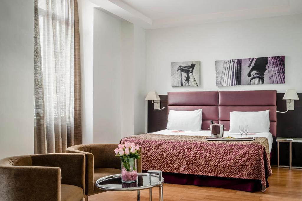 Cama o camas de una habitación en Eurostars Roma Aeterna