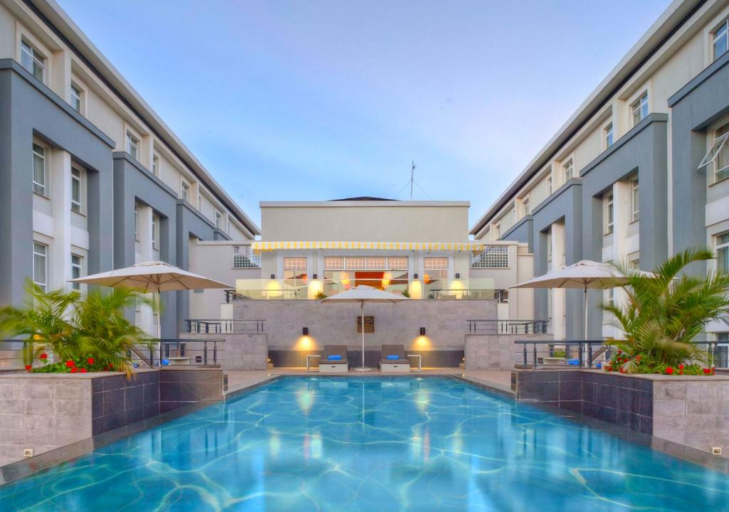 The swimming pool at or near Eka Hotel Nairobi