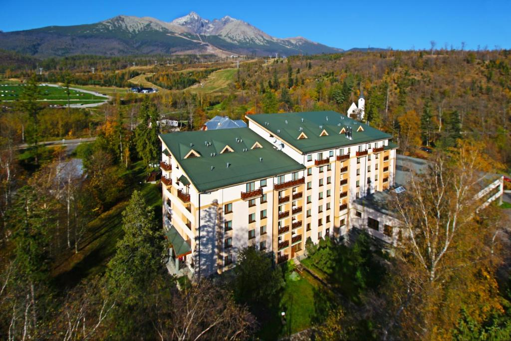 A bird's-eye view of Hotel Slovan