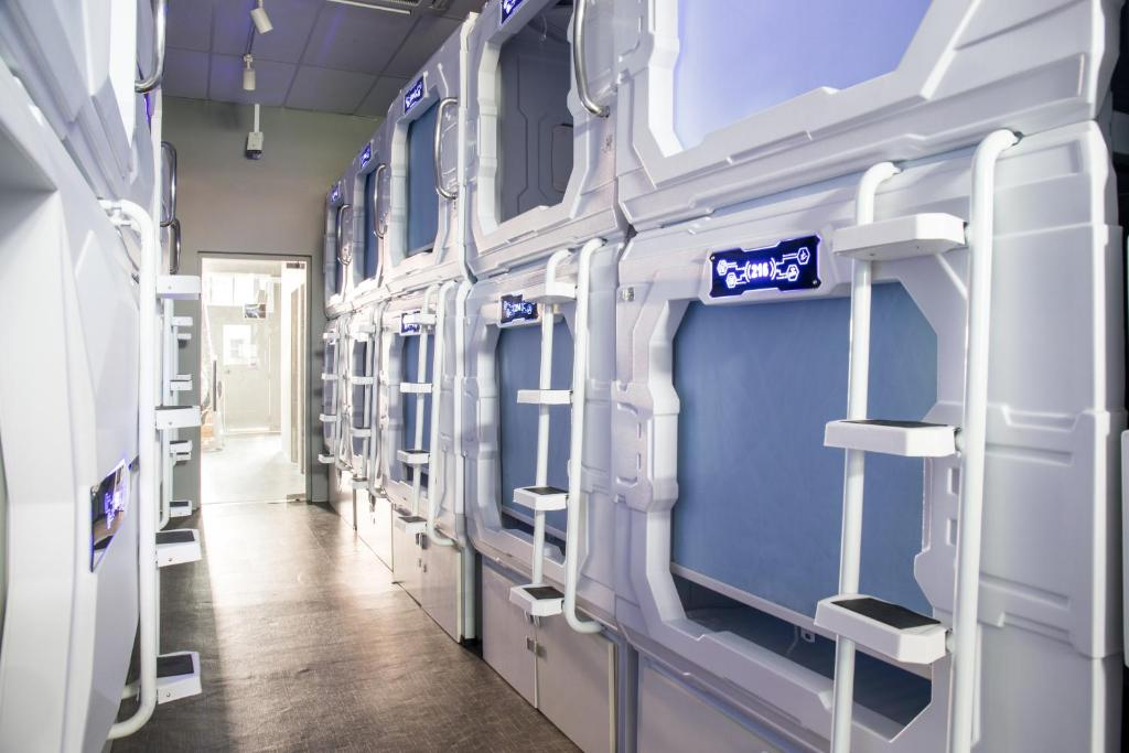 Un ou plusieurs lits superposés dans un hébergement de l'établissement The Atlas Station