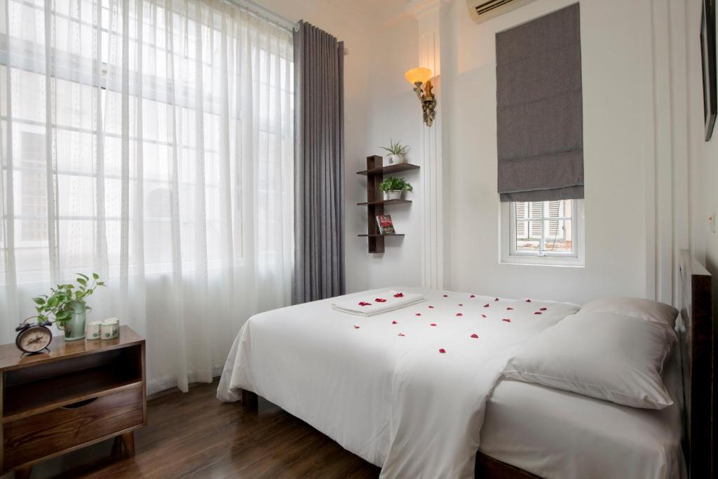 Giường trong phòng chung tại An Family Homestay