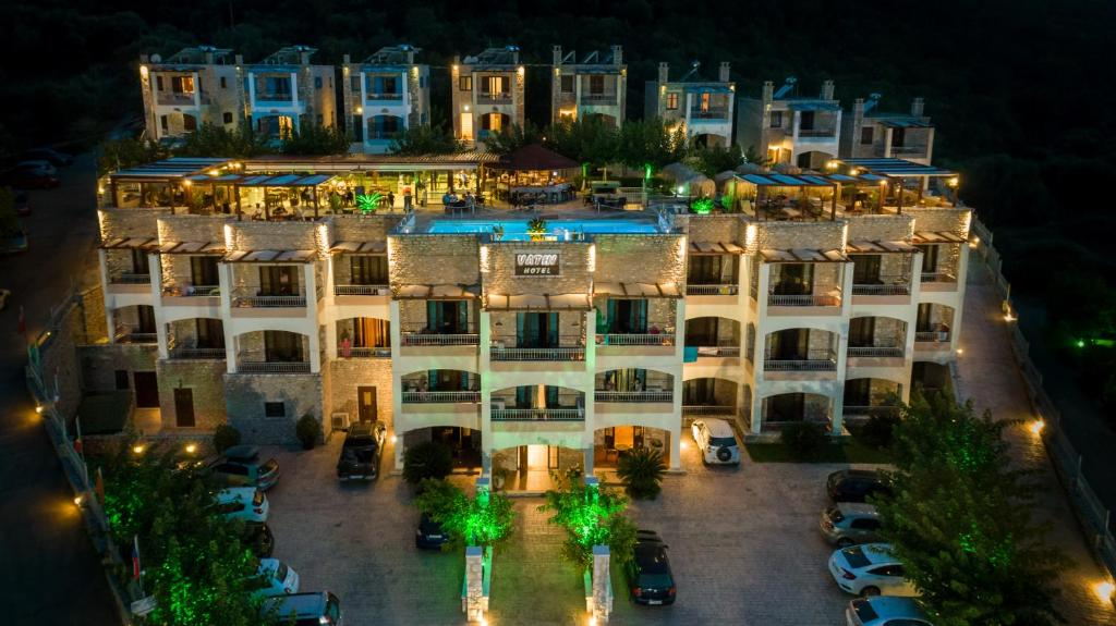 A bird's-eye view of Vathi Hotel