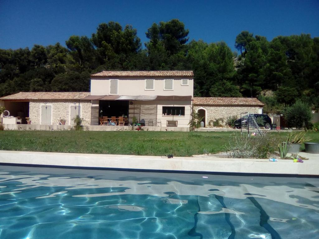 The swimming pool at or close to bastide des jardins