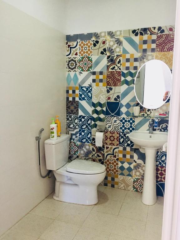 Phòng Giường Đôi Với Phòng Tắm Riêng Bên Ngoài