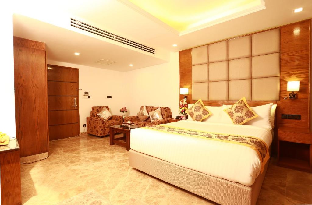Krevet ili kreveti u jedinici u objektu Marino Royal Hotel