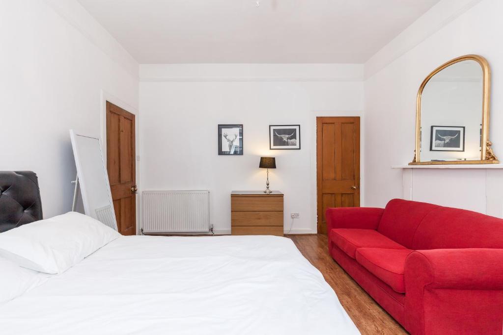 Cama o camas de una habitación en Old Town Edinburgh