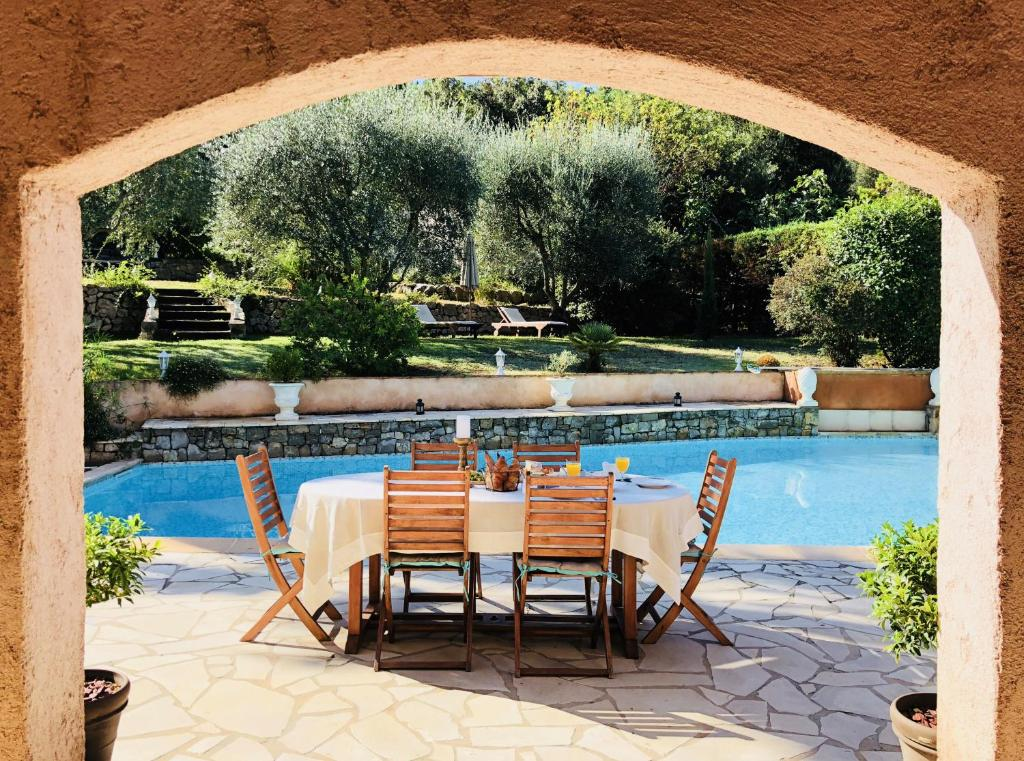 The swimming pool at or close to Chambres d'hôtes Villa Cardabella