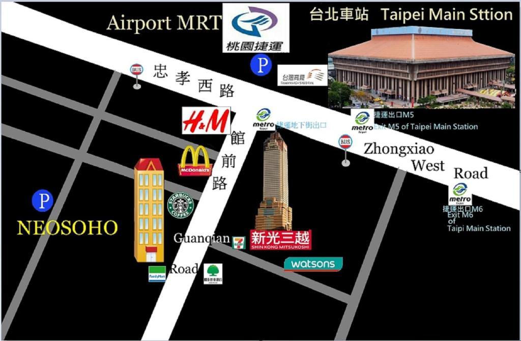 A bird's-eye view of NEOSOHO - Taipei Station Branch