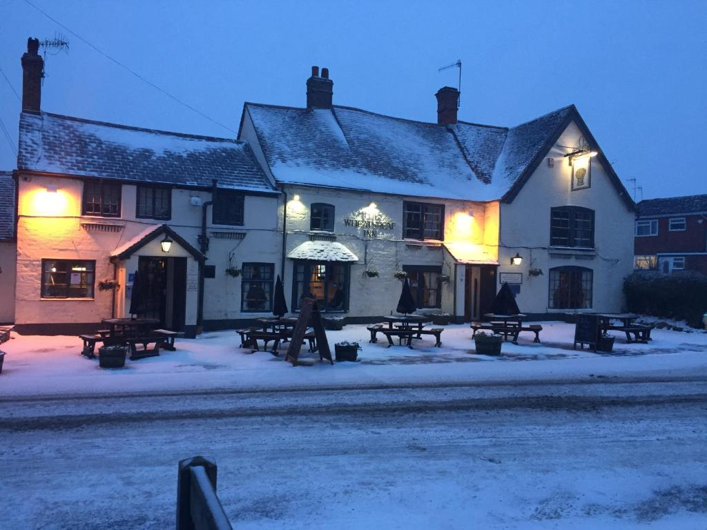 The Wheatsheaf Inn during the winter