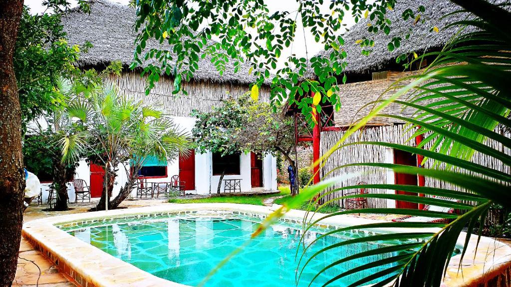 Der Swimmingpool an oder in der Nähe von Diani Hostel