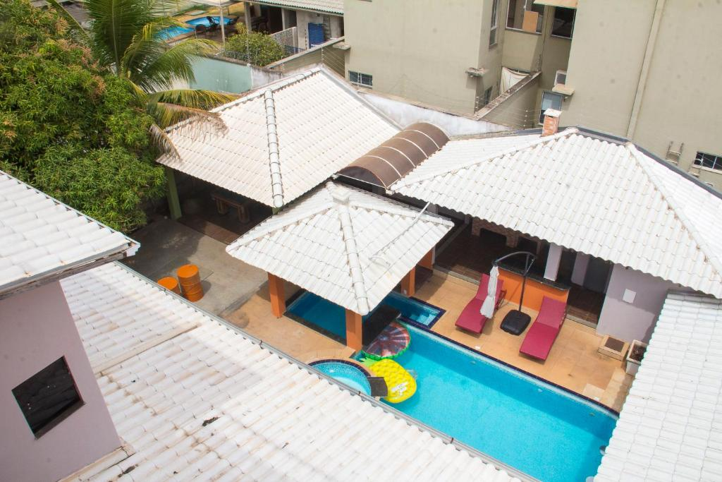 A view of the pool at Palmas Hostel or nearby