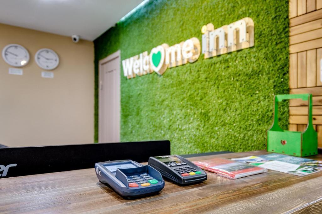 Лобби или стойка регистрации в Hotel Welcome inn
