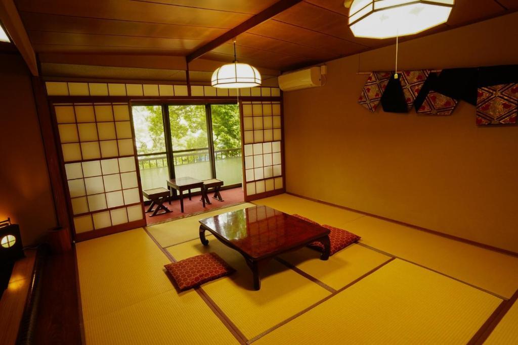 A seating area at Onsen Yado Mizuguchi