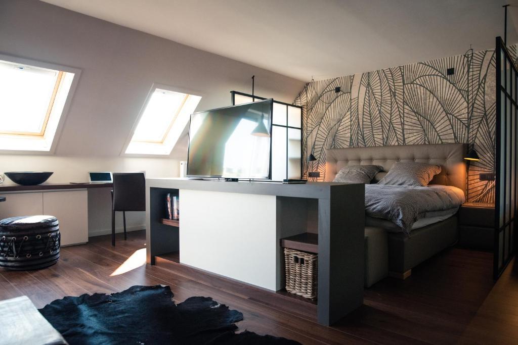 Küche/Küchenzeile in der Unterkunft Hotel Cosmopolite