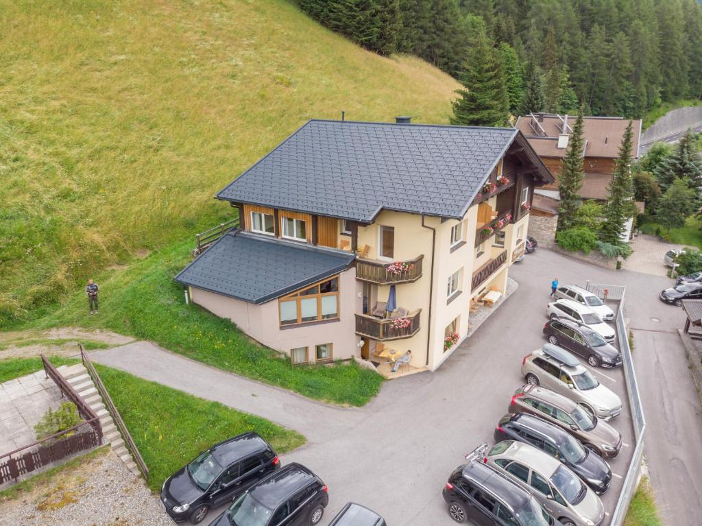 A bird's-eye view of Pension Bergkristall