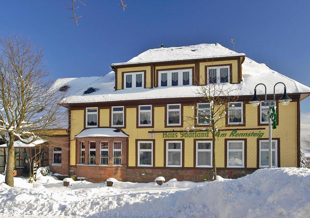 Pension Haus Saarland im Winter