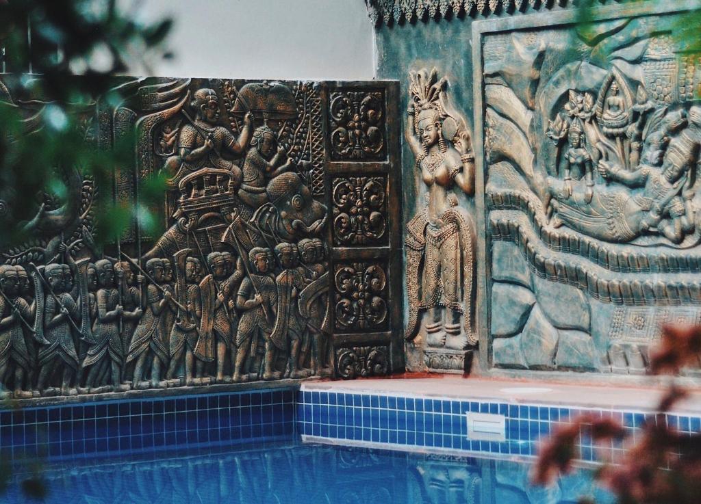 Piscina en o cerca de Bokre Angkor Hostel