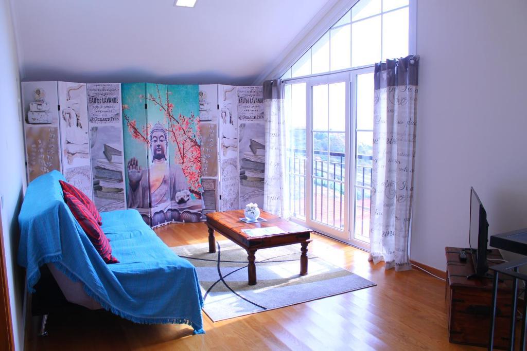 Uma área de estar em Apartment in Campanário | Ribeira Brava