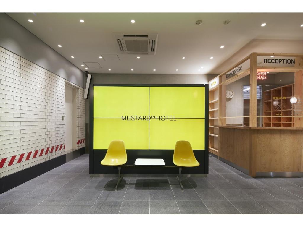 The lobby or reception area at Mustard Hotel Shibuya