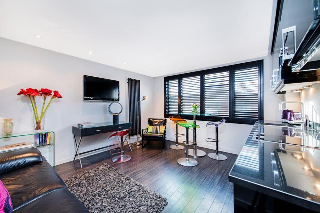 Sjónvarps- og/eða afþreyingartæki á Chelsea Luxury Flat