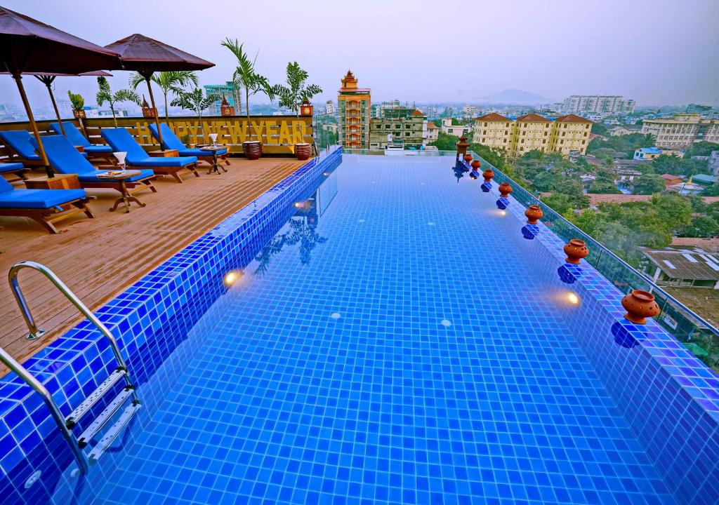 The swimming pool at or near Hotel Yadanarbon Mandalay